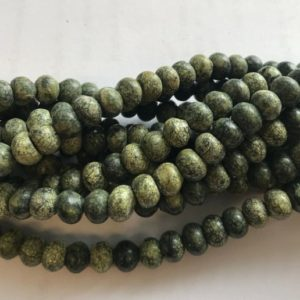 Shop Serpentine Rondelle Beads! serpentine 8x6mm rondelle gemstone beads–15.5'  1 strand/3 strands | Natural genuine rondelle Serpentine beads for beading and jewelry making.  #jewelry #beads #beadedjewelry #diyjewelry #jewelrymaking #beadstore #beading #affiliate #ad