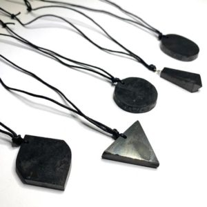 Shop Shungite Pendants! Shungite Pendant on Black Cord | Natural genuine Shungite pendants. Buy crystal jewelry, handmade handcrafted artisan jewelry for women.  Unique handmade gift ideas. #jewelry #beadedpendants #beadedjewelry #gift #shopping #handmadejewelry #fashion #style #product #pendants #affiliate #ad