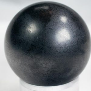 """Shop Shungite Shapes! Russian Shungite Sphere 2.2"""" weighs 242 grams   Natural genuine stones & crystals in various shapes & sizes. Buy raw cut, tumbled, or polished gemstones for making jewelry or crystal healing energy vibration raising reiki stones. #crystals #gemstones #crystalhealing #crystalsandgemstones #energyhealing #affiliate #ad"""
