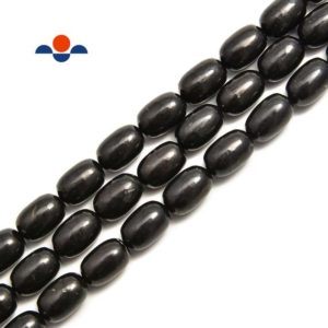 Shop Shungite Beads! Shungite Smooth Oval Bean Shape Nugget Beads 6x10mm 8x12mm 10x14mm 15.5'' Strand | Natural genuine other-shape Shungite beads for beading and jewelry making.  #jewelry #beads #beadedjewelry #diyjewelry #jewelrymaking #beadstore #beading #affiliate #ad
