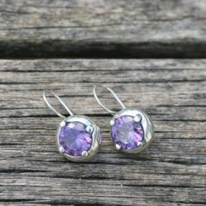 Shop Alexandrite Earrings! Silver Earring , Sterling Silver Earrings, Alexandrite Earrings, Handmade Earrings, Silver Jewelry, Free Shipping, | Natural genuine Alexandrite earrings. Buy crystal jewelry, handmade handcrafted artisan jewelry for women.  Unique handmade gift ideas. #jewelry #beadedearrings #beadedjewelry #gift #shopping #handmadejewelry #fashion #style #product #earrings #affiliate #ad