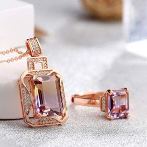 Shop Ametrine Pendants! Silver Rose Gold Genuine AAA Royal Ametrine Pendant Necklace Ring Sets, Birthday Jewelry, Anniversary Gift For Mom, For Wife, For Girl   Natural genuine Ametrine pendants. Buy crystal jewelry, handmade handcrafted artisan jewelry for women.  Unique handmade gift ideas. #jewelry #beadedpendants #beadedjewelry #gift #shopping #handmadejewelry #fashion #style #product #pendants #affiliate #ad
