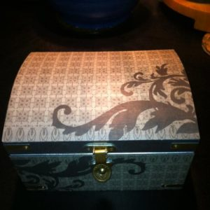 Shop Men's Jewelry Boxes! Silver Treasure Chest, Men's Jewelry Box, Jewelry Trunk Geometric Decorative Papers and Brass Fittings, Men's Jewelry Box,  Desk Accessories | Shop jewelry making and beading supplies, tools & findings for DIY jewelry making and crafts. #jewelrymaking #diyjewelry #jewelrycrafts #jewelrysupplies #beading #affiliate #ad