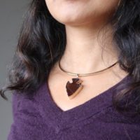 Smoky Quartz Arrowhead Necklace Protective Brown Gemstone Point Gold Choker   Natural genuine Gemstone jewelry. Buy crystal jewelry, handmade handcrafted artisan jewelry for women.  Unique handmade gift ideas. #jewelry #beadedjewelry #beadedjewelry #gift #shopping #handmadejewelry #fashion #style #product #jewelry #affiliate #ad