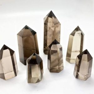 Shop Smoky Quartz Stones & Crystals! Smoky Quartz point – Smoky Quartz Crystal – Smoky Quartz Point Crystal – Crystal Quartz – Healing Crystals & Stones – Minor Imperfections | Natural genuine stones & crystals in various shapes & sizes. Buy raw cut, tumbled, or polished gemstones for making jewelry or crystal healing energy vibration raising reiki stones. #crystals #gemstones #crystalhealing #crystalsandgemstones #energyhealing #affiliate #ad