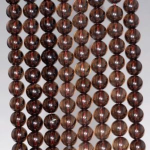 6mm Smoky Quartz Gemstone Grade Aaa Round Loose Beads 15.5 Inch Full Strand Bulk Lot 1, 2, 6, 12 And 50 (80001531-101) | Natural genuine round Smoky Quartz beads for beading and jewelry making.  #jewelry #beads #beadedjewelry #diyjewelry #jewelrymaking #beadstore #beading #affiliate #ad