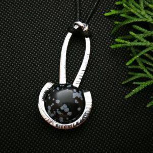 Shop Snowflake Obsidian Pendants! snowflake obsidian necklace, black crystal pendant men, unique birthday gift for boyfriend, fathers day gift for dad, obsidian pendant | Natural genuine Snowflake Obsidian pendants. Buy crystal jewelry, handmade handcrafted artisan jewelry for women.  Unique handmade gift ideas. #jewelry #beadedpendants #beadedjewelry #gift #shopping #handmadejewelry #fashion #style #product #pendants #affiliate #ad