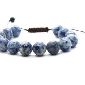 Shop Sodalite Bracelets! Adjustable Sodalite Bracelet, Sodalite, Bracelets, 10 mm Sodalite Bead, Minerals, Natural Stones, Gemstone, Sodalite Crystals, Gift Sodalite | Natural genuine Sodalite bracelets. Buy crystal jewelry, handmade handcrafted artisan jewelry for women.  Unique handmade gift ideas. #jewelry #beadedbracelets #beadedjewelry #gift #shopping #handmadejewelry #fashion #style #product #bracelets #affiliate #ad