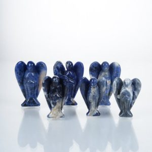 Shop Sodalite Shapes! Blue Sodalite Angel Decor Stone,Hand-carved Angel,Classical Decor Angel,Natural Polish stone Figurine Angel,Angel Figurine Wholesale. | Natural genuine stones & crystals in various shapes & sizes. Buy raw cut, tumbled, or polished gemstones for making jewelry or crystal healing energy vibration raising reiki stones. #crystals #gemstones #crystalhealing #crystalsandgemstones #energyhealing #affiliate #ad