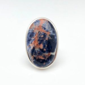 Shop Sodalite Rings! Sodalite Stone Ring Size 9 – Purple Blue Sodalite Ring – Sodalite Silver Ring — 925 Sterling Silver – Sodalite Lapis Ring   Natural genuine Sodalite rings, simple unique handcrafted gemstone rings. #rings #jewelry #shopping #gift #handmade #fashion #style #affiliate #ad
