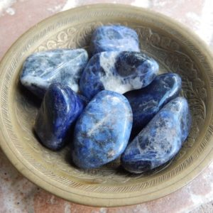 Shop Tumbled Sodalite Crystals & Pocket Stones! Tumbled Sodalite Stones | Natural genuine stones & crystals in various shapes & sizes. Buy raw cut, tumbled, or polished gemstones for making jewelry or crystal healing energy vibration raising reiki stones. #crystals #gemstones #crystalhealing #crystalsandgemstones #energyhealing #affiliate #ad