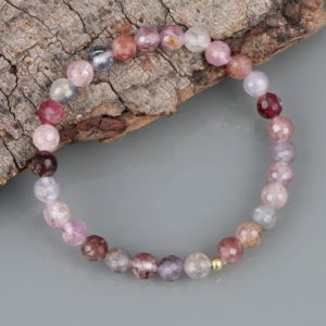 Shop Spinel Bracelets! Multi Spinel Bracelet Natural Multi Spinel Gemstone Bracelet Handmade Beaded Stretchable Bracelet Multi Spinel Beads Birthstone Gift Jewelry | Natural genuine Spinel bracelets. Buy crystal jewelry, handmade handcrafted artisan jewelry for women.  Unique handmade gift ideas. #jewelry #beadedbracelets #beadedjewelry #gift #shopping #handmadejewelry #fashion #style #product #bracelets #affiliate #ad