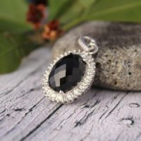 Natural Black Spinel Pendant 925 Silver-cluster Spinel Pendant-statement Spinel Pendant-vintage Spinel Pendant-black Stone Pendant-boho Styl | Natural genuine Gemstone jewelry. Buy crystal jewelry, handmade handcrafted artisan jewelry for women.  Unique handmade gift ideas. #jewelry #beadedjewelry #beadedjewelry #gift #shopping #handmadejewelry #fashion #style #product #jewelry #affiliate #ad