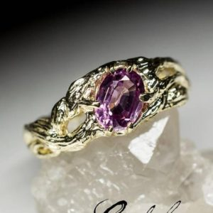 Spinel Ring Gold Natural Gemstone 14k Spinel Fine Unisex Jewelry Art Nouveau Style August Birthstone Unique Engagement Ring Unisex 10250 | Natural genuine Gemstone rings, simple unique alternative gemstone engagement rings. #rings #jewelry #bridal #wedding #jewelryaccessories #engagementrings #weddingideas #affiliate #ad