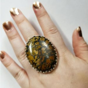 Shop Mahogany Obsidian Rings! sterling silver and large mahogany obsidian ring by Old Hippie Dave 925 mahogany obsidian ring great christmas gift free shipping | Natural genuine Mahogany Obsidian rings, simple unique handcrafted gemstone rings. #rings #jewelry #shopping #gift #handmade #fashion #style #affiliate #ad