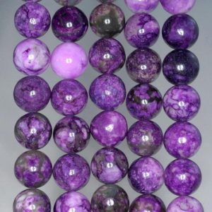 FREE USA Ship 10mm Purple Sugilite Gemstone Round Loose Beads 15.5 inch Full Strand LOT 1,2,6,12 and 50 (90188719-88) | Natural genuine round Sugilite beads for beading and jewelry making.  #jewelry #beads #beadedjewelry #diyjewelry #jewelrymaking #beadstore #beading #affiliate #ad