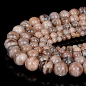 Shop Sunstone Round Beads! Natural Orange Gray Sunstone Gemstone Grade A Round 6MM 8MM 10MM 12MM 14MM Loose Beads (D8) | Natural genuine round Sunstone beads for beading and jewelry making.  #jewelry #beads #beadedjewelry #diyjewelry #jewelrymaking #beadstore #beading #affiliate #ad