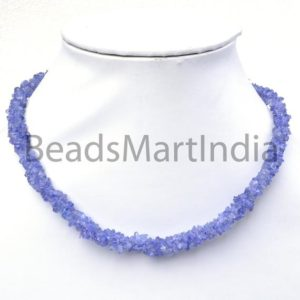 Shop Tanzanite Chip & Nugget Beads! Tanzanite Chip Gemstone Necklace With Silver Lock, Tanzanite Gemstone Beads, Tanzanite Chips Nuggets Necklace, Tanzanite Plain Smooth Beads | Natural genuine chip Tanzanite beads for beading and jewelry making.  #jewelry #beads #beadedjewelry #diyjewelry #jewelrymaking #beadstore #beading #affiliate #ad