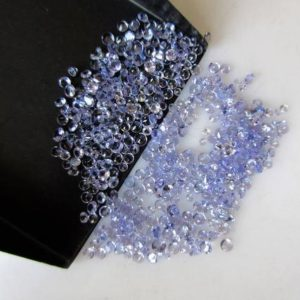 Shop Tanzanite Faceted Beads! 100 Pieces 1mm To 2mm Tanzanite Faceted Round Shaped Diamond Cut Natural Blue Color Loose Gemstones GDS1047/15 | Natural genuine faceted Tanzanite beads for beading and jewelry making.  #jewelry #beads #beadedjewelry #diyjewelry #jewelrymaking #beadstore #beading #affiliate #ad