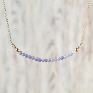 Shop Tanzanite Necklaces! Faceted Tanzanite Necklace December Birthstone Jewelry Delicate Tanzanite Jewelry Gemstone Crystals Necklace Valentines Gift For Women | Natural genuine Tanzanite necklaces. Buy crystal jewelry, handmade handcrafted artisan jewelry for women.  Unique handmade gift ideas. #jewelry #beadednecklaces #beadedjewelry #gift #shopping #handmadejewelry #fashion #style #product #necklaces #affiliate #ad