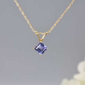 Shop Tanzanite Pendants! NATURAL TANZANITE PENDANT in 14k Gold, December birthstone, Jewelry gift, Tanzanite necklace, Dainty pendant, Handmade gift, Gift for wife | Natural genuine Tanzanite pendants. Buy crystal jewelry, handmade handcrafted artisan jewelry for women.  Unique handmade gift ideas. #jewelry #beadedpendants #beadedjewelry #gift #shopping #handmadejewelry #fashion #style #product #pendants #affiliate #ad