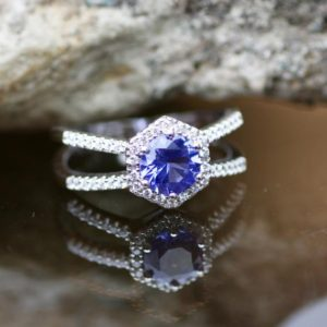 Lab Made Tanzanite Ring Sterling Silver 925 , December birthstone , Engagement Ring , TET | Natural genuine Array rings, simple unique alternative gemstone engagement rings. #rings #jewelry #bridal #wedding #jewelryaccessories #engagementrings #weddingideas #affiliate #ad