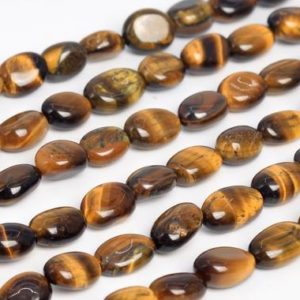 Shop Tiger Eye Chip & Nugget Beads! Genuine Natural Yellow Tiger Eye Loose Beads Grade A Pebble Nugget Shape 8-10mm | Natural genuine chip Tiger Eye beads for beading and jewelry making.  #jewelry #beads #beadedjewelry #diyjewelry #jewelrymaking #beadstore #beading #affiliate #ad