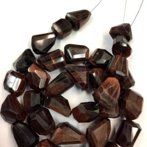 Shop Tiger Eye Chip & Nugget Beads! Natural Red Tiger Eye Nugget Beads Tiger Eye Faceted Nuggets Shape Beads Tiger Eye Gemstone Beads Jewelry Making Nuggets Beads Top Quality | Natural genuine chip Tiger Eye beads for beading and jewelry making.  #jewelry #beads #beadedjewelry #diyjewelry #jewelrymaking #beadstore #beading #affiliate #ad