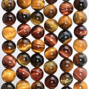 Shop Tiger Eye Round Beads! 6mm Genuine Natural Yellow Red Blue Tiger Eye Gemstone Grade AA Mix Color Round Loose Beads 14.5 inch Full Strand (80007072-A238) | Natural genuine round Tiger Eye beads for beading and jewelry making.  #jewelry #beads #beadedjewelry #diyjewelry #jewelrymaking #beadstore #beading #affiliate #ad