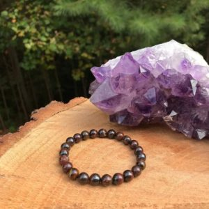 Tiger Iron Bracelet | Chakra Healing | Grounding | Stamina | Spiritual Protection | Tension Stress | Strength | Tiger Eye Hematite Matrix | Natural genuine Gemstone bracelets. Buy crystal jewelry, handmade handcrafted artisan jewelry for women.  Unique handmade gift ideas. #jewelry #beadedbracelets #beadedjewelry #gift #shopping #handmadejewelry #fashion #style #product #bracelets #affiliate #ad