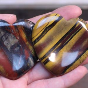 Tiger Iron Heart Worry Stone E22 | Natural genuine stones & crystals in various shapes & sizes. Buy raw cut, tumbled, or polished gemstones for making jewelry or crystal healing energy vibration raising reiki stones. #crystals #gemstones #crystalhealing #crystalsandgemstones #energyhealing #affiliate #ad