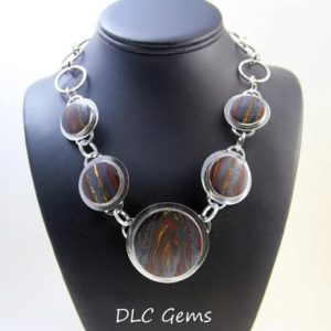 Shop Tiger Iron Necklaces! Tiger Iron Necklace Tiger Eye Necklace Gemstone Neckace Multiple Stone Necklace Handmade Necklace Sterling Silver Necklace Artisan OOAK Gift | Natural genuine Tiger Iron necklaces. Buy crystal jewelry, handmade handcrafted artisan jewelry for women.  Unique handmade gift ideas. #jewelry #beadednecklaces #beadedjewelry #gift #shopping #handmadejewelry #fashion #style #product #necklaces #affiliate #ad