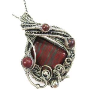 Shop Tiger Iron Pendants! Tiger Iron Pendant with Red Jasper, Banded Iron Formation (BIF) | Natural genuine Tiger Iron pendants. Buy crystal jewelry, handmade handcrafted artisan jewelry for women.  Unique handmade gift ideas. #jewelry #beadedpendants #beadedjewelry #gift #shopping #handmadejewelry #fashion #style #product #pendants #affiliate #ad