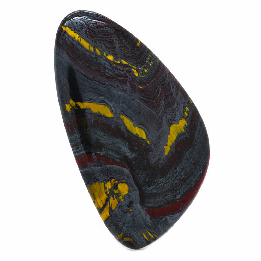 Tiger Iron is combination of Tiger Eye, Red Jasper, and Hematite, making it a powerful grounding stone. It increases stamina and strength both physically and in terms of willpower and determination. It is excellent for people needing support to create healthier habits. Learn more about Tiger Iron meaning + healing properties, benefits & more. Visit to find gemstone meanings & info about crystal healing. #gemstones #crystals #crystalhealing #beadage