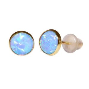 Shop Opal Earrings! Tiny Opal Studs, 14K Gold Earrings, Fire Opal Earrings, Opal Jewelry, Statement Earrings, Dainty Gold Earrings, Handmade Earrings | Natural genuine Opal earrings. Buy crystal jewelry, handmade handcrafted artisan jewelry for women.  Unique handmade gift ideas. #jewelry #beadedearrings #beadedjewelry #gift #shopping #handmadejewelry #fashion #style #product #earrings #affiliate #ad