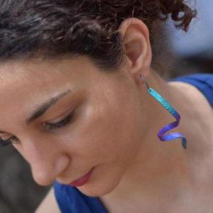 Titanium Dangle Earrings, Long Earrings, Blue Titanium Earrings, Lightweight Titanium Earrings, Hypoallergenic Earrings, Giampouras | Natural genuine Gemstone earrings. Buy crystal jewelry, handmade handcrafted artisan jewelry for women.  Unique handmade gift ideas. #jewelry #beadedearrings #beadedjewelry #gift #shopping #handmadejewelry #fashion #style #product #earrings #affiliate #ad
