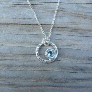 Shop Topaz Necklaces! Shine On Necklace in Sky Blue Topaz and Sterling | Natural genuine Topaz necklaces. Buy crystal jewelry, handmade handcrafted artisan jewelry for women.  Unique handmade gift ideas. #jewelry #beadednecklaces #beadedjewelry #gift #shopping #handmadejewelry #fashion #style #product #necklaces #affiliate #ad