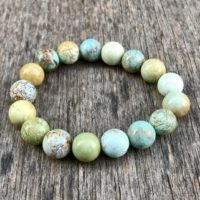 Chunky Pure Hubei Turquoise Bracelet Unstabilized 11mm Chinese Hubei Turquoise Gemstone Bracelet Blue Green Pastel Hubei Turquoise Rounds | Natural genuine Gemstone jewelry. Buy crystal jewelry, handmade handcrafted artisan jewelry for women.  Unique handmade gift ideas. #jewelry #beadedjewelry #beadedjewelry #gift #shopping #handmadejewelry #fashion #style #product #jewelry #affiliate #ad