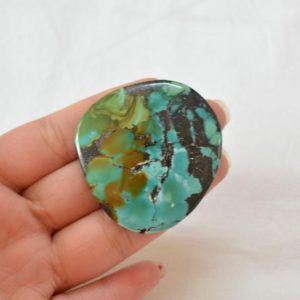 Shop Turquoise Stones & Crystals! Tibetan Turquoise Gemstone, Big Size Tibetan Turquoise, Fancy Shape, Flat Back, Smooth Cabochon, 1 Piece, 50×53 mm #AR9539   Natural genuine stones & crystals in various shapes & sizes. Buy raw cut, tumbled, or polished gemstones for making jewelry or crystal healing energy vibration raising reiki stones. #crystals #gemstones #crystalhealing #crystalsandgemstones #energyhealing #affiliate #ad