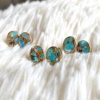 Genuine Turquoise Earrings, turquoise Earrings Studs, turquoise Studs Earrings, turquoise Jewelry, raw Stone Earrings, turquoise Earrings Gold | Natural genuine Gemstone jewelry. Buy crystal jewelry, handmade handcrafted artisan jewelry for women.  Unique handmade gift ideas. #jewelry #beadedjewelry #beadedjewelry #gift #shopping #handmadejewelry #fashion #style #product #jewelry #affiliate #ad