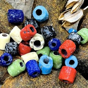 Shop Beads With Large Holes! Vintage: 24 Rare Old Trade Glass Beads – Large Hole Beads – Macramé Beads – Sku 11-c1-00004938 | Shop jewelry making and beading supplies, tools & findings for DIY jewelry making and crafts. #jewelrymaking #diyjewelry #jewelrycrafts #jewelrysupplies #beading #affiliate #ad
