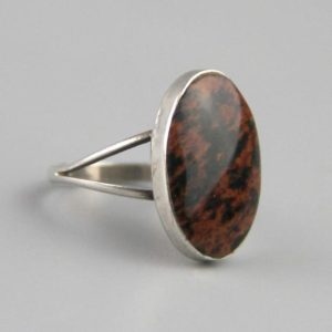 Shop Mahogany Obsidian Rings! Vintage Mahogany Obsidian Cocktail Ring, Sterling Silver, Mexican Ring, Elegant Ring, Size 6.5 Ring, Taxco Jewellery, Earth Tone Jewellery | Natural genuine Mahogany Obsidian rings, simple unique handcrafted gemstone rings. #rings #jewelry #shopping #gift #handmade #fashion #style #affiliate #ad