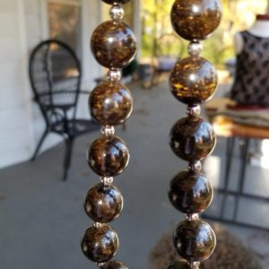 Shop Tiger Iron Necklaces! Vintage RARE: Dark Blue Tiger Iron Necklace. Brown Necklace. Tiger Iron. Tiger Eye. Stone Necklace. Sterling Silver. 925. Artisan. OOAK Gift | Natural genuine Tiger Iron necklaces. Buy crystal jewelry, handmade handcrafted artisan jewelry for women.  Unique handmade gift ideas. #jewelry #beadednecklaces #beadedjewelry #gift #shopping #handmadejewelry #fashion #style #product #necklaces #affiliate #ad