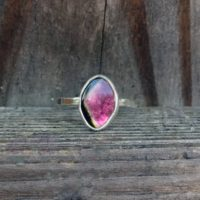 Watermelon Tourmaline Ring – Tourmaline Ring – Bi Color Tourmaline – Gemstone Ring – Stering Silver – Gemstone Ring – Pink Ring – Green Ring | Natural genuine Gemstone jewelry. Buy crystal jewelry, handmade handcrafted artisan jewelry for women.  Unique handmade gift ideas. #jewelry #beadedjewelry #beadedjewelry #gift #shopping #handmadejewelry #fashion #style #product #jewelry #affiliate #ad