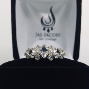 BEAUTIFUL 3ctw Princess Cut White Sapphire Ring 10k or 14k Gold Size 6 7 8 9 10 Right Hand Ring Engagement Ring Anniversary Bridal Fiance | Natural genuine Gemstone rings, simple unique alternative gemstone engagement rings. #rings #jewelry #bridal #wedding #jewelryaccessories #engagementrings #weddingideas #affiliate #ad