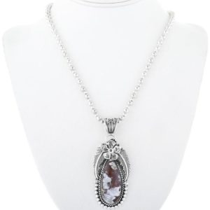 Wild Horse Magnesite Silver Pendant With Bead Necklace 0312 | Natural genuine Array pendants. Buy crystal jewelry, handmade handcrafted artisan jewelry for women.  Unique handmade gift ideas. #jewelry #beadedpendants #beadedjewelry #gift #shopping #handmadejewelry #fashion #style #product #pendants #affiliate #ad