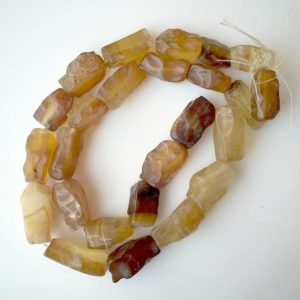 Shop Onyx Chip & Nugget Beads! Yellow Onyx Beads, Natural Hammered Rough Onyx Gemstone Beads, 15-20mm Approx, 18 Inch Strand, SKU-Rg13 | Natural genuine chip Onyx beads for beading and jewelry making.  #jewelry #beads #beadedjewelry #diyjewelry #jewelrymaking #beadstore #beading #affiliate #ad