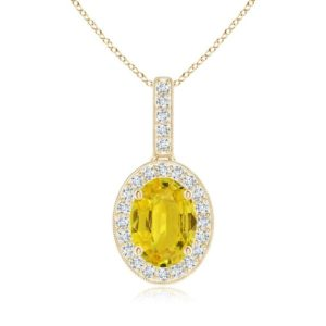 Shop Yellow Sapphire Necklaces! Yellow Sapphire Necklace- 14k gold Sapphire Necklace- Oval Sapphire Necklace- Anniversary Gift For Her | Natural genuine Yellow Sapphire necklaces. Buy crystal jewelry, handmade handcrafted artisan jewelry for women.  Unique handmade gift ideas. #jewelry #beadednecklaces #beadedjewelry #gift #shopping #handmadejewelry #fashion #style #product #necklaces #affiliate #ad