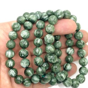 Shop Seraphinite Bracelets! 10 Mm Natural Seraphinite Beaded Bracelet / Best Quality Seraphinite Bracelet Seraphinite Jewellery Gift Jewellery | Natural genuine Seraphinite bracelets. Buy crystal jewelry, handmade handcrafted artisan jewelry for women.  Unique handmade gift ideas. #jewelry #beadedbracelets #beadedjewelry #gift #shopping #handmadejewelry #fashion #style #product #bracelets #affiliate #ad