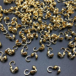 Shop Bead Tips & Knot Covers! 100 pcs Brass Bead Tips,Nickel Colored Bead Tip,9x4mm Rhodium or Gold Plated | Shop jewelry making and beading supplies, tools & findings for DIY jewelry making and crafts. #jewelrymaking #diyjewelry #jewelrycrafts #jewelrysupplies #beading #affiliate #ad